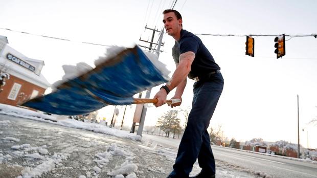 U.S. Southeast states snow storm winter