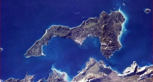 The Greek island of Corfu is shown in a photo posted on Twitter on Jan. 7, 2013 by Canadian astronaut Chris Hadfield. (The Canadian Press/Chris Hadfield, NASA, via Twitter)
