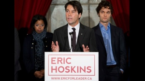 Dr. Eric Hoskins announces his candidacy for leader of the Ontario Liberal Party in Toronto on Tuesday, Nov. 13, 2012. (Nathan Denette/The Canadian Press)