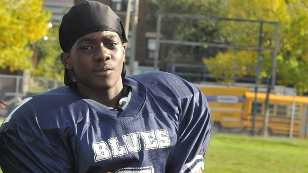 Tyson Bailey, seen here during football practice at Central Tech, is Toronto's 3rd homicide victim of 2013.