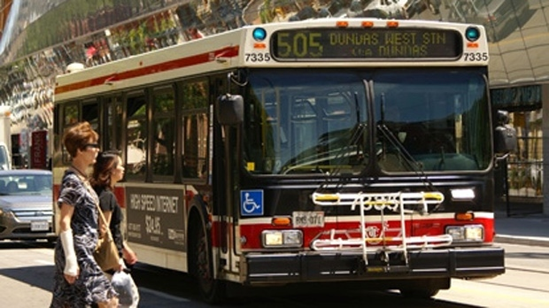 A TTC bus is pictured in this file photo. (Chris Kitching/CP24)