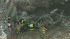 Car crashes into ravine Richmond Hill Bathurst