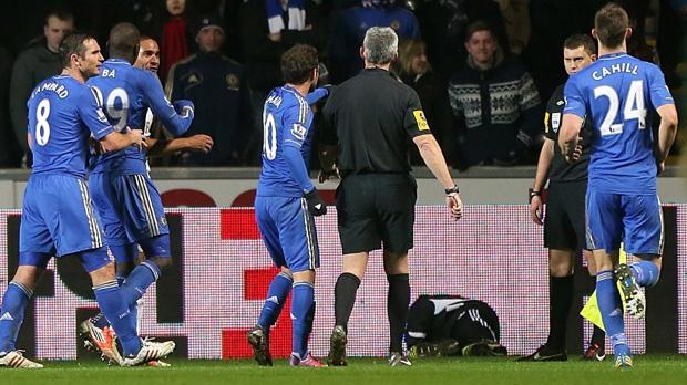 Eden Hazard kicks ball boy Chelsea Swansea