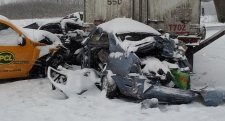 Accident, highway 401, newcastle, pileup