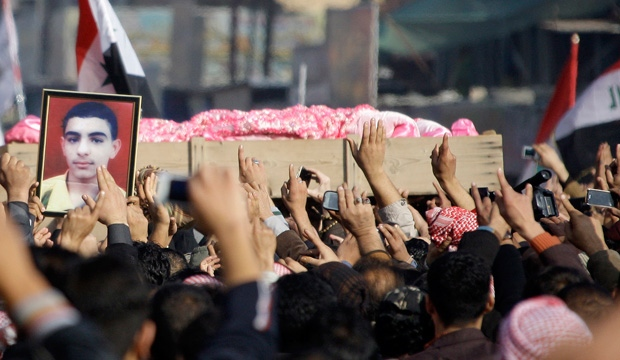 Iraq, mourners, funeral, shooting