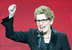 New Ontario Premier Kathleen Wynne speaks after winning the leadership race at the Ontario Liberal Party leaderhip convention in Toronto on Saturday January 26, 2013. (Frank Gunn/ THE CANADIAN PRESS)