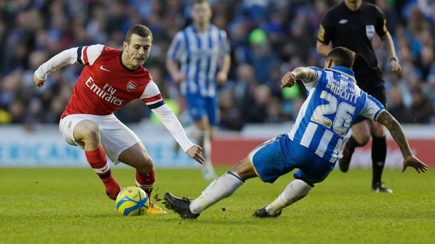 Arsenal Jack Wilshere FA Cup Brighton and Hove