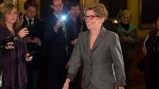 Premier-designate Kathleen Wynne caucus meeting