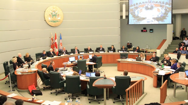 Markham city council members attend a meeting Tuesday, Jan. 29, 2013. (Tom Stefanac/CP24)