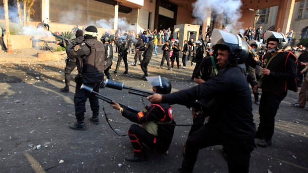 Egypt two protesters killed in clashes in Cairo