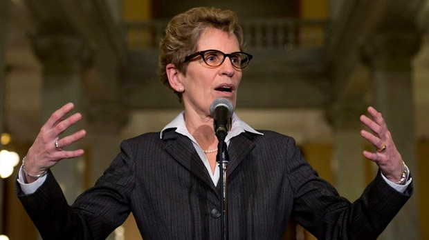 Kathleen Wynne incoming premier teachers talks