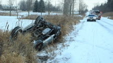 Vaughan rollover Kirby Road Pine Valley Drive