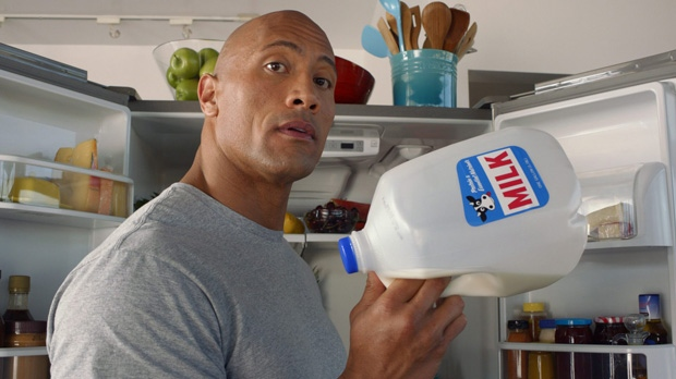 Super Bowl ads Dwayne The Rock Johnson milk