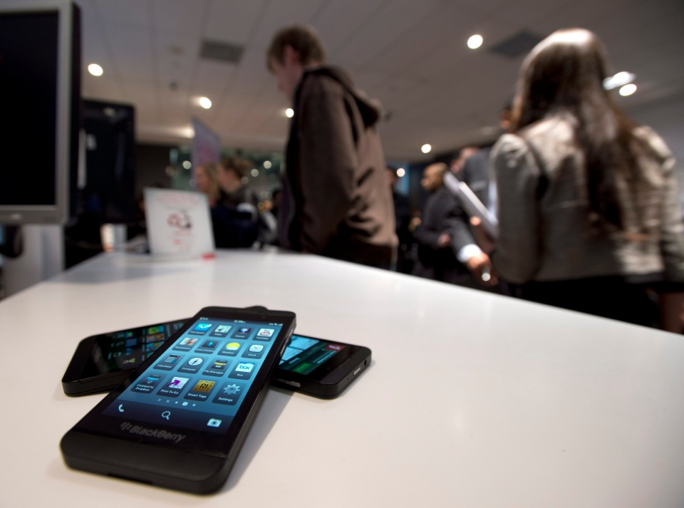 The Blackberry Z10 goes on sale in Toronto on Tuesday, Feb. 5, 2013. (The Canadian Press/Frank Gunn)