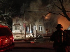 Burlington house fire