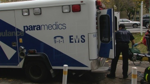 A Toronto paramedic responds to a call in this file photo.