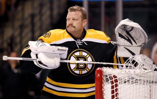 Boston Bruins goalie Tim Thomas