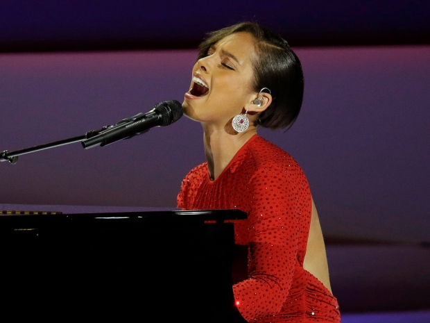 Alicia Keys Will.i.am charity event Grammys
