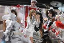 Taylor Swift performs at Grammy Awards