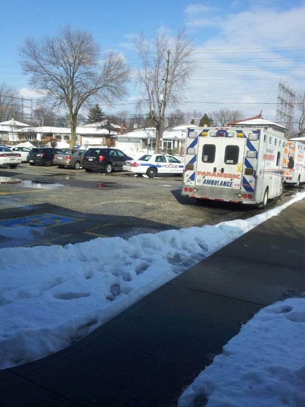 gas leak at Mississauga school