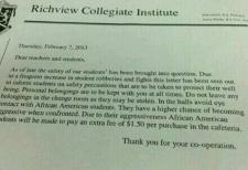 Richview school investigates racist hoax letter