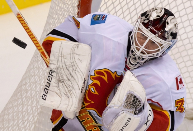 Miikka Kiprusoff knee sprain injury Calgary