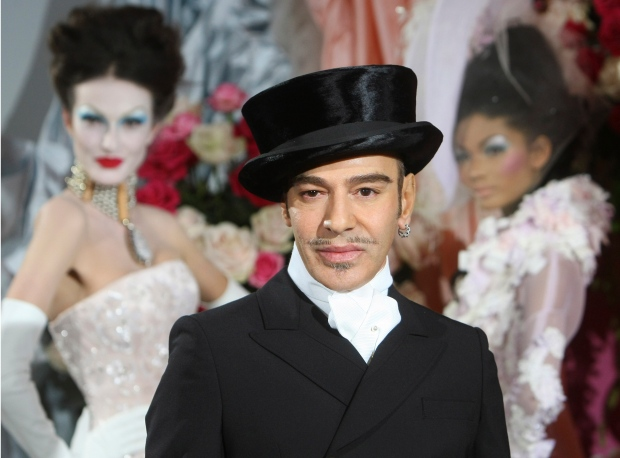 John Galliano outfit New York Fashion Week