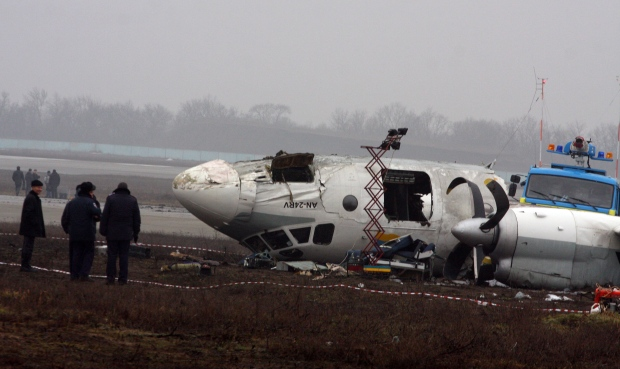 Donetsk Ukraine fatal plane crash