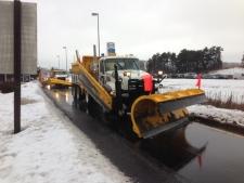 Winter storm rain snow plow Highway 400