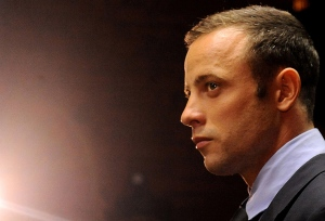Olympic athlete Oscar Pistorius appears in court in Pretoria, South Africa on Friday, Feb. 22, 2013. (AP Photo)
