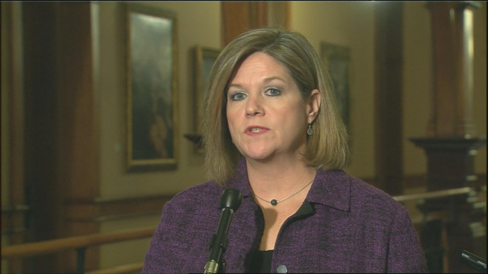NDP leader Andrea Horwath speaks to reporters Friday, Feb. 22, 2013.