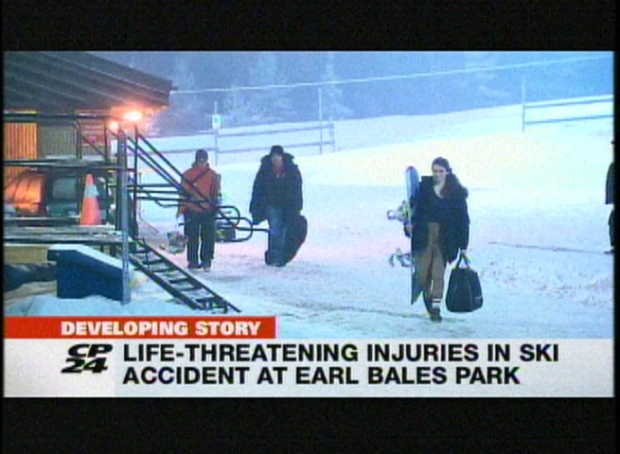 People are shown leaving Earl Bales Park on February 22, 2013. A 41-year-old man was rushed to hospital via emergency run after an apparent skiing accident at the North York hill.