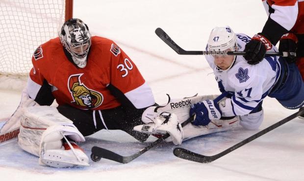 Senators beat Leafs with last minute goal