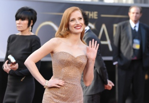 Academy Awards red carpet Oscars Jessica Chastain