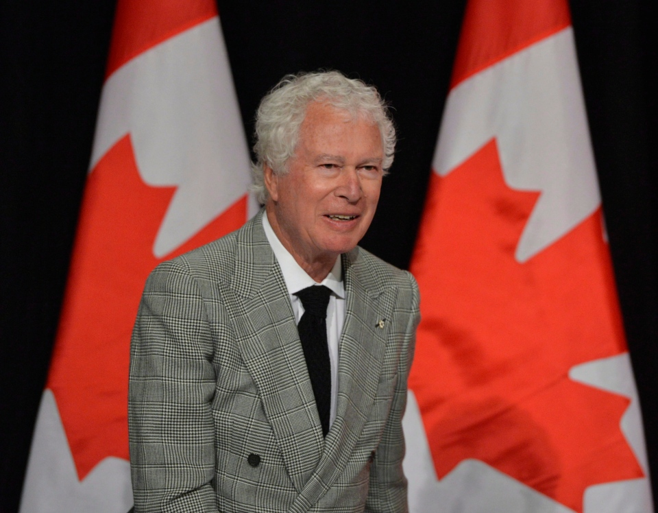 Ken Taylor, former Canadian ambassador to Iran, speaks to the Empire Club of Canada in Toronto on Thursday, Jan.24, 2013. (The Canadian Press/Nathan Denette)