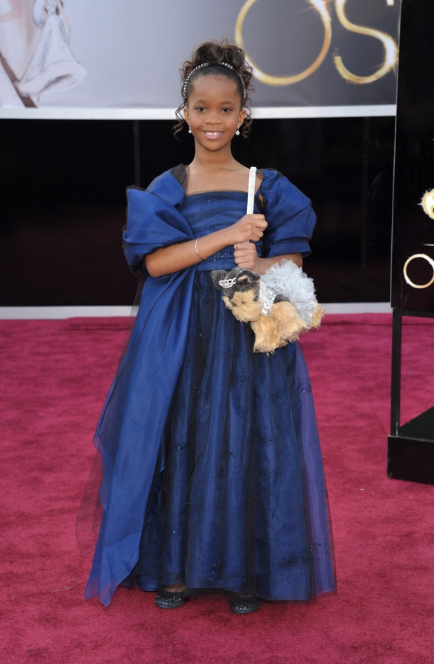 Actress Quvenzhane Wallis arrives at the 85th Academy Awards at the Dolby Theatre in Los Angeles on Sunday, Feb. 24, 2013. (Photo by John Shearer/Invision/AP)