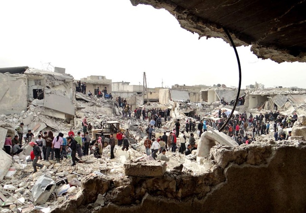 Aleppo Syria missiles bombing