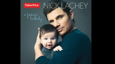Nick Lachey's album cover for A Father's Lullaby