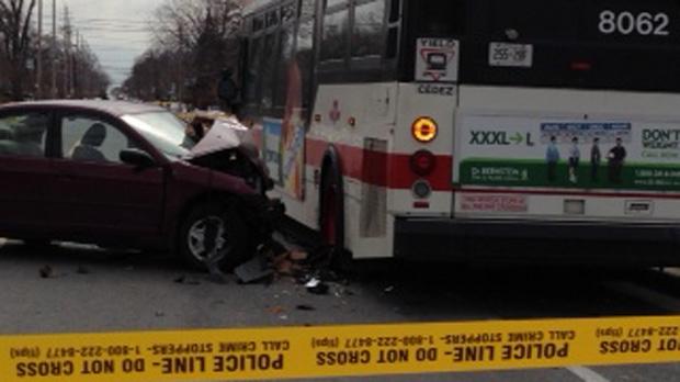 Royal York Road, crash, accident