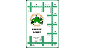 A photo of the St. Patrick's Day Parade route in Toronto. The parade will take place on March 17, 2013.