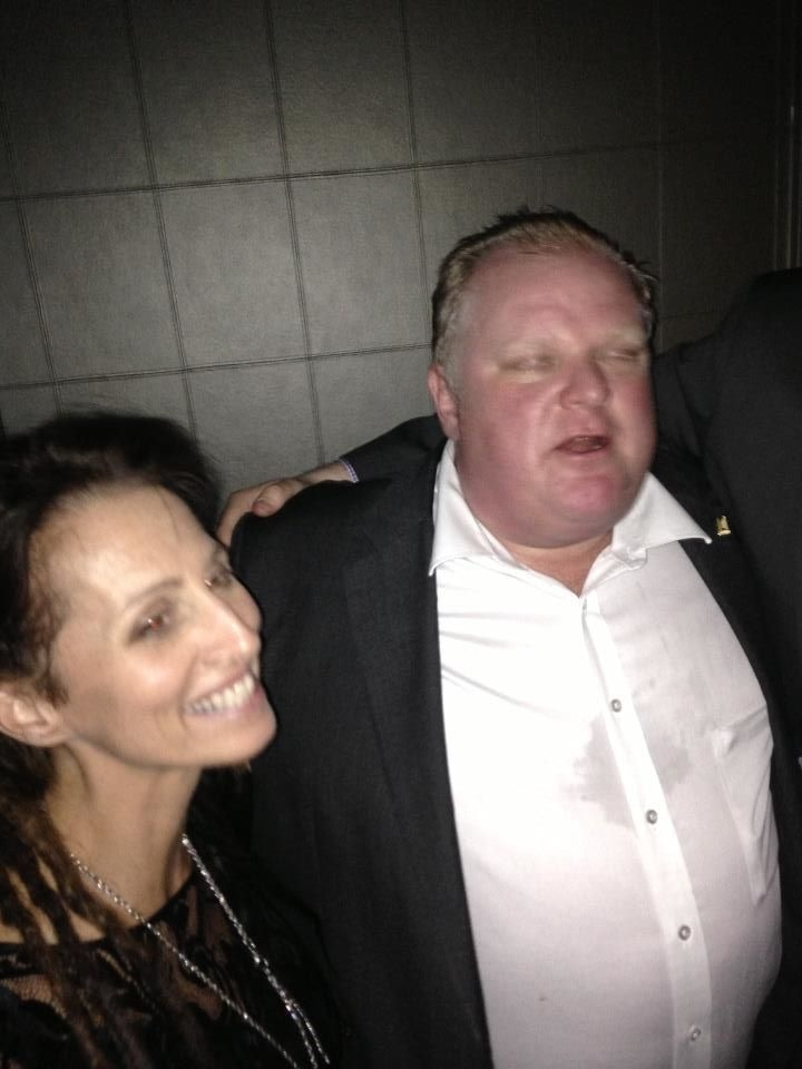 A photo taken from Facebook shows Sarah Thomson and Rob Ford together at an event hosted by the Canadian Jewish Political Affairs Committee on March 7, 2013. Thomson is accusing Ford of touching her inappropriately during the event. (Facebook)