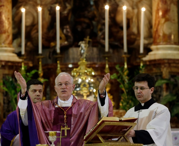 Cardinal Marc Ouellet mass Rome church