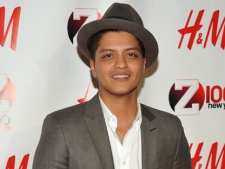 Musician Bruno Mars attends the Z100 Jingle Ball concert at Madison Square Garden on Friday, Dec. 10, 2010, in New York. (AP/Evan Agostini)