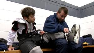 Kids' hockey game hopes to break cultural divide