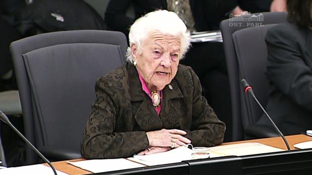 Mississauga Mayor Hazel McCallion