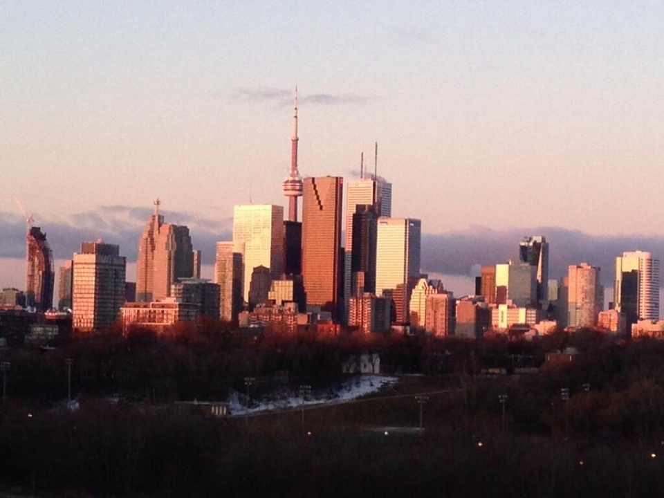 Toronto's downtown skyline is pictured Saturday, March 23, 2013. (Jackie Crandles/CP24)