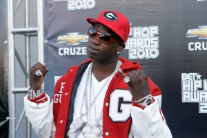Rapper Gucci Mane arrives on the red carpet for the BET Hip Hop Awards in Atlanta on Saturday, Oct. 2, 2010. (AP Photo/John Amis)
