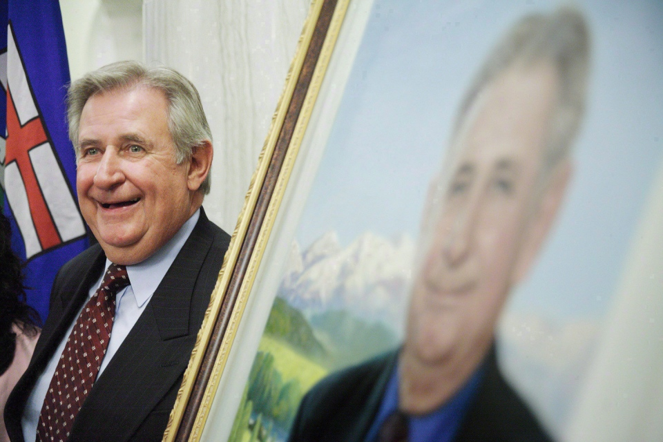 Former Alberta premier Ralph Klein in Edmonton on Aug. 30, 2007. (The Canadian Press/John Ulan)