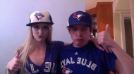 These Jays fans show their team spirit ahead of the home opener on April 2, 2013. (@nicolesparks22/Twitter)