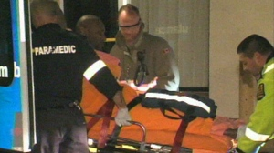 A man is taken to hospital following a stabbing in Malton on April 6, 2013.